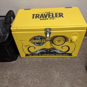 Traveler Beer Company Metal Cooler